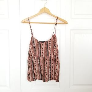 Flowy patterned tank top